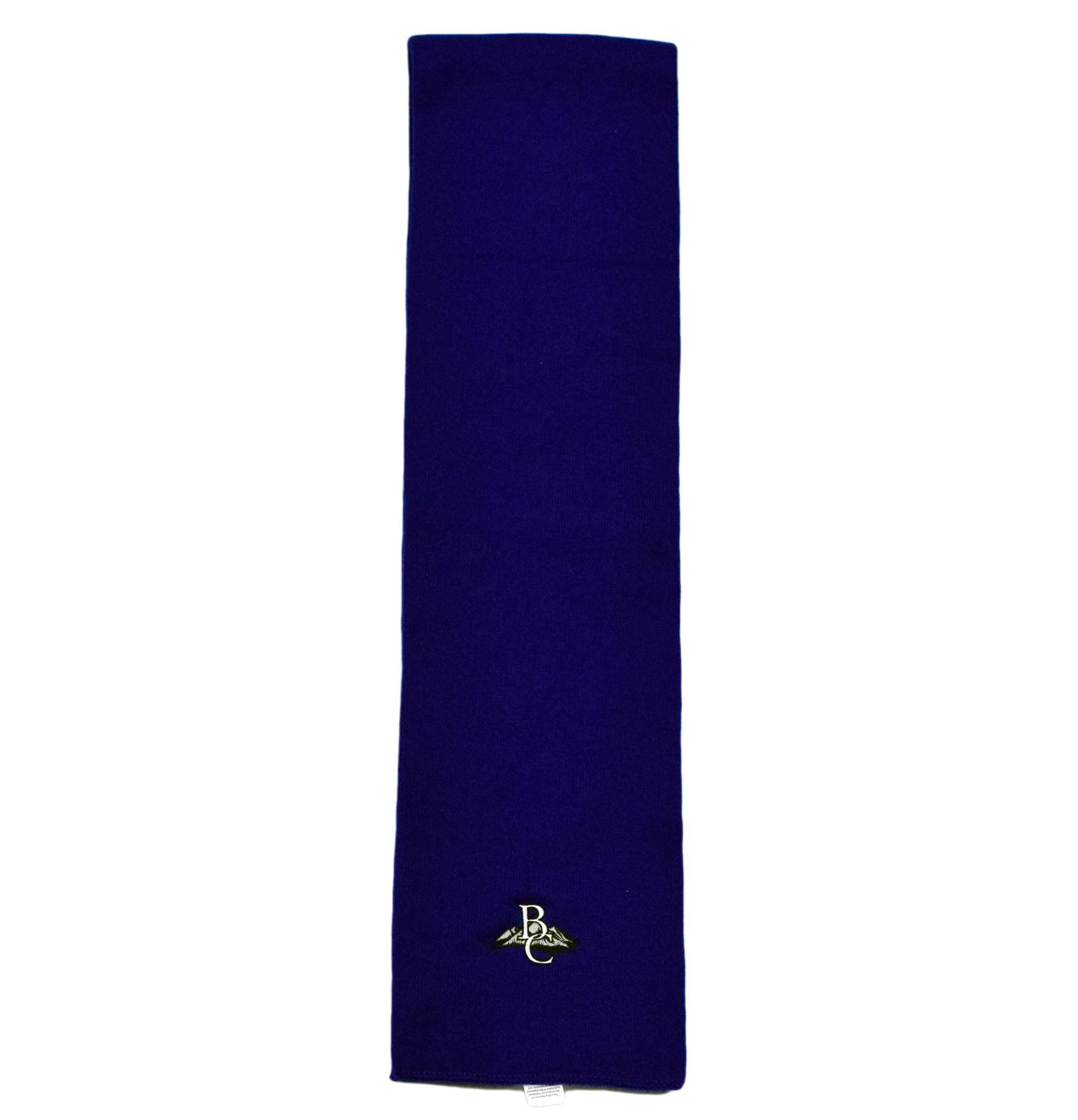 Navy Blue BC Embroidered Scarf-1