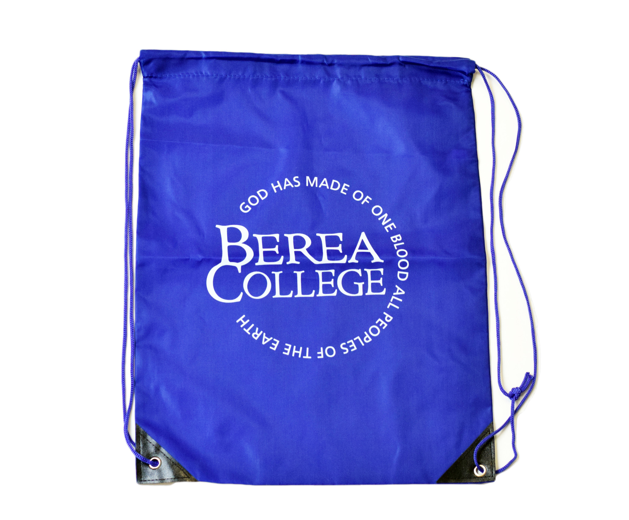 Royal Blue Cinch Bag with Circle Logo-2