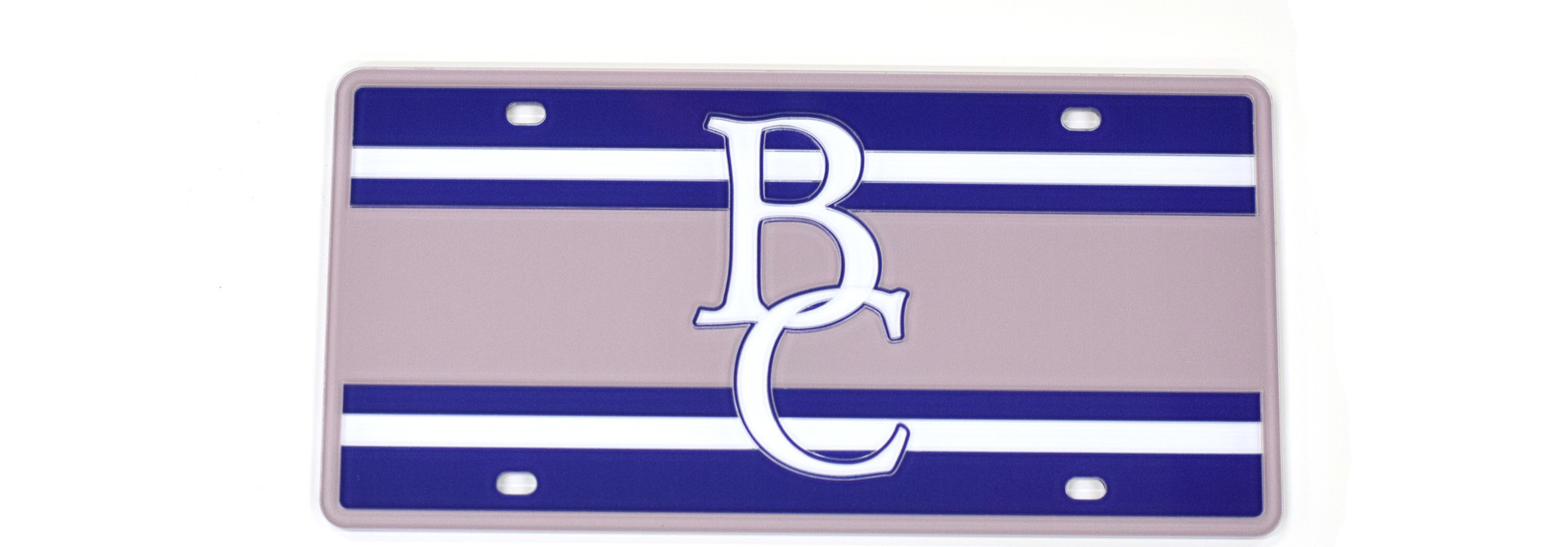 BC Stripped License Plate