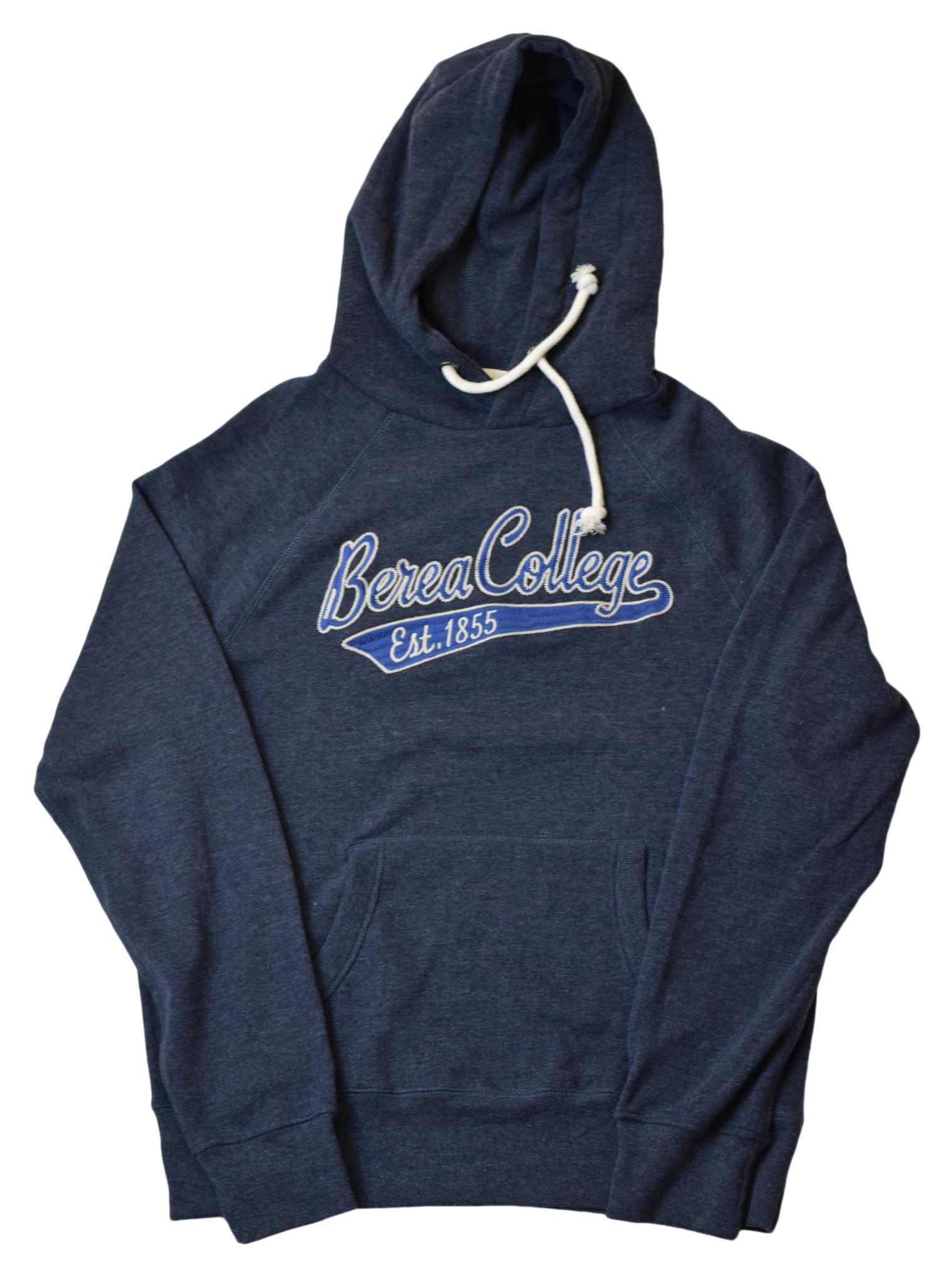Heathered Navy Berea College 1855 hoodie-1