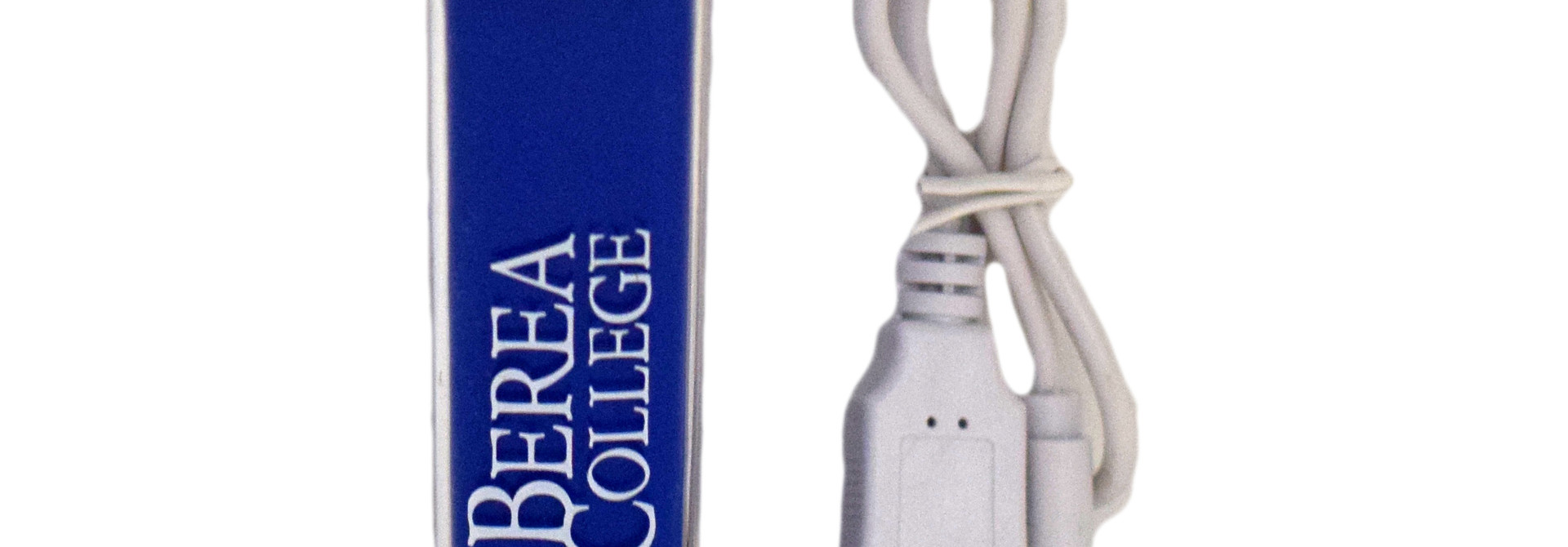 Portable Power Bank, Stacked Logo