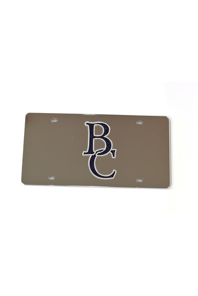 BC Glitter License Plate