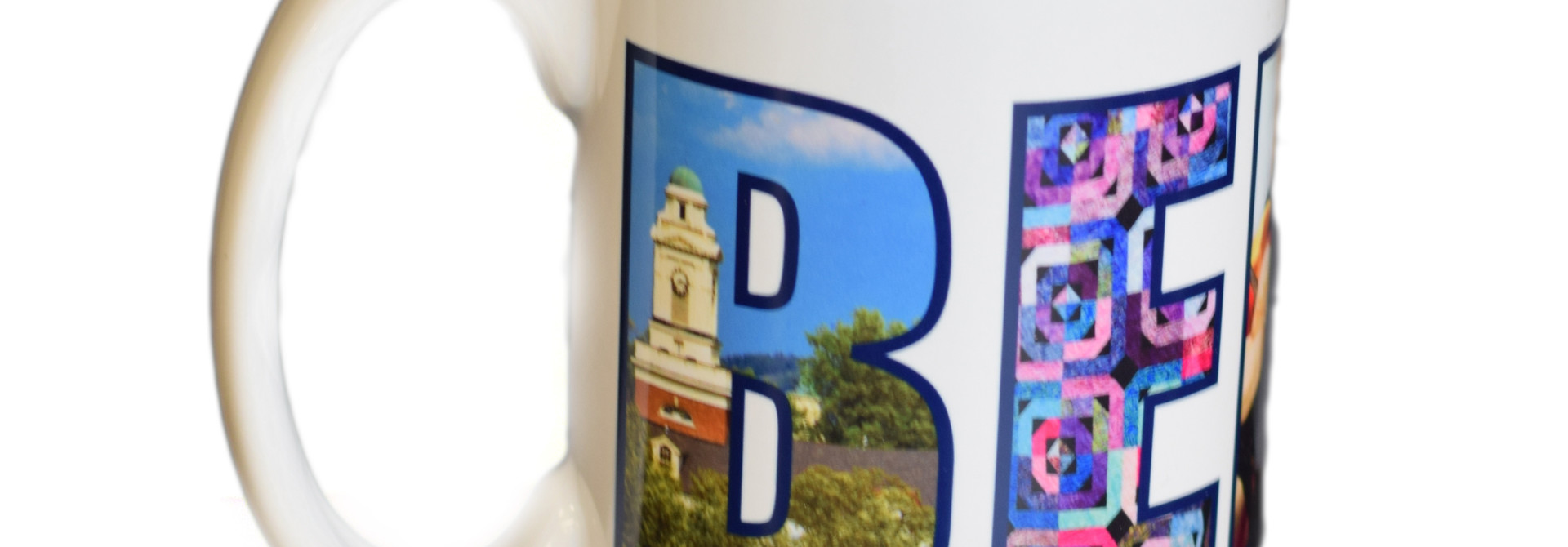 White Berea Collage Mug