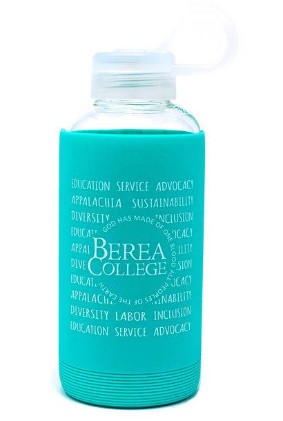 Mint Green Glass Water Bottle