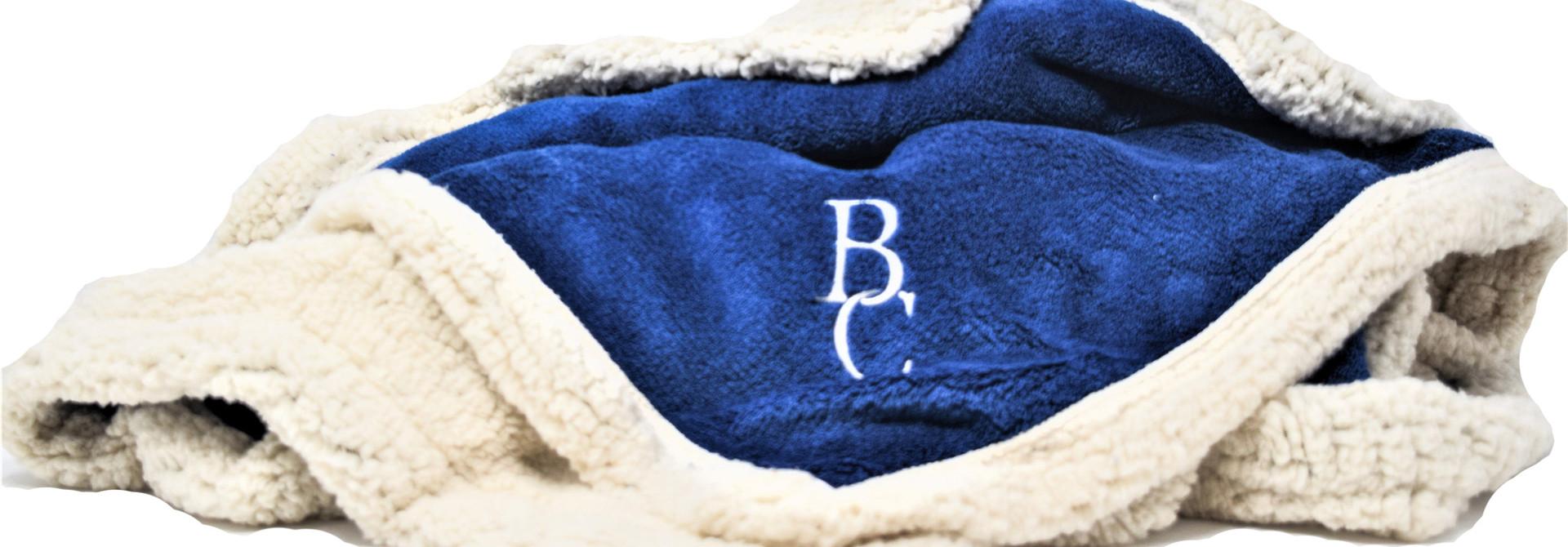 Blue BC Sherpa Throw