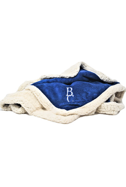 Blue BC Sherpa Throw