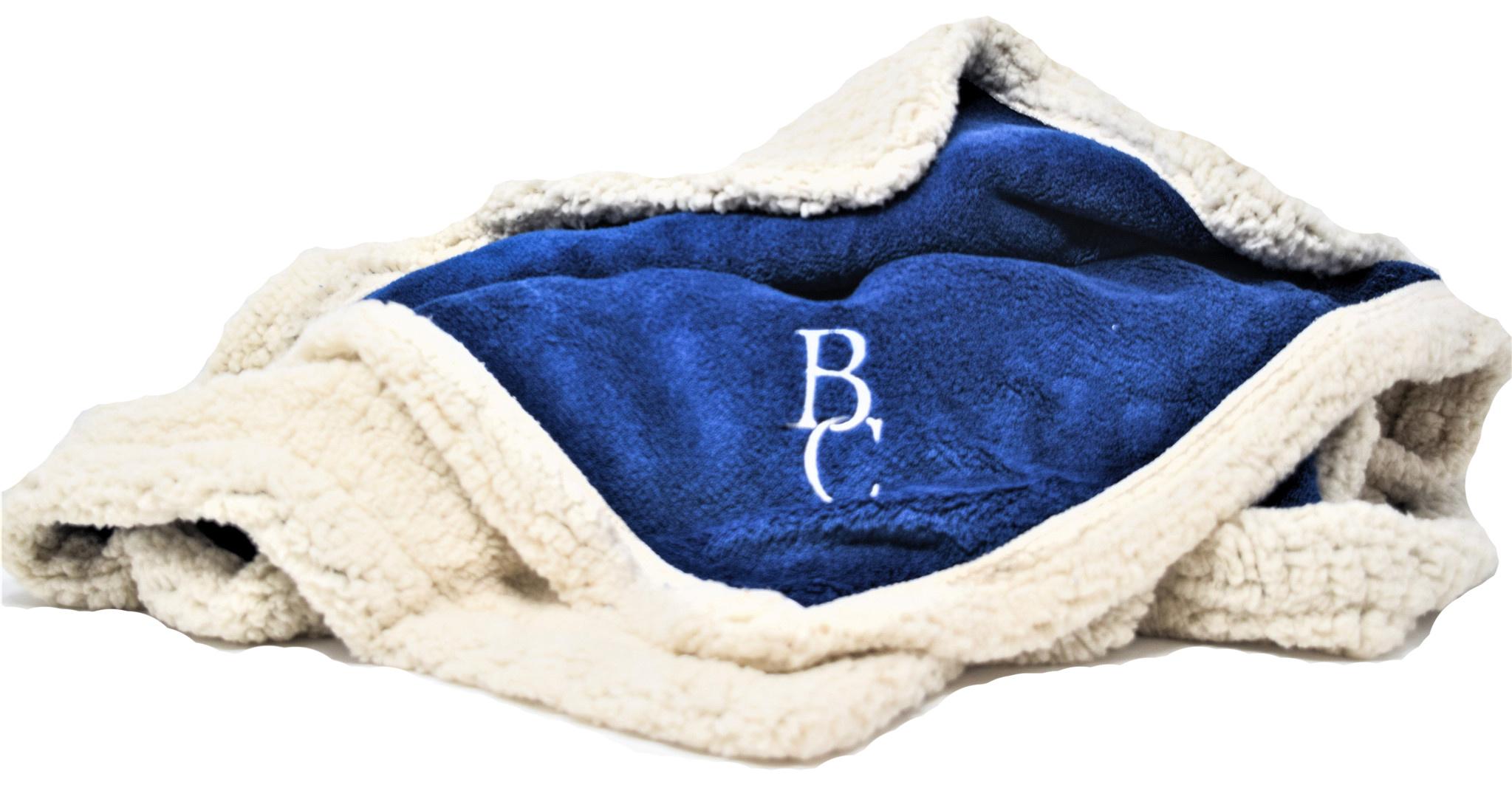 Blue BC Sherpa Throw-1