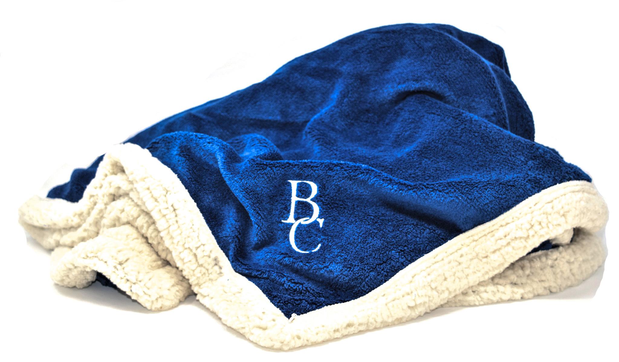 Blue BC Sherpa Throw-2