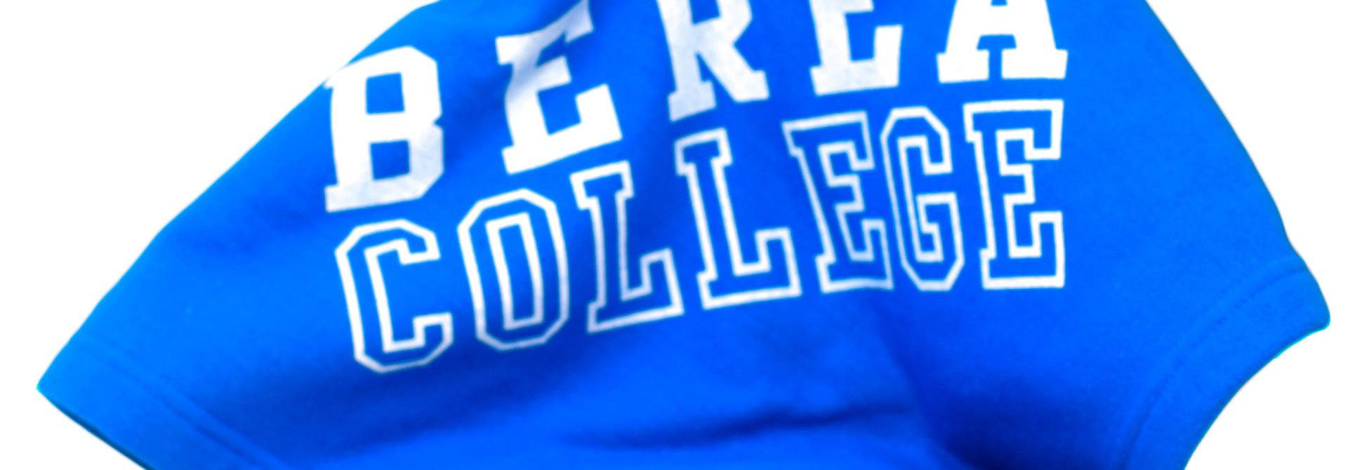 Blue Berea College Fleece Blanket