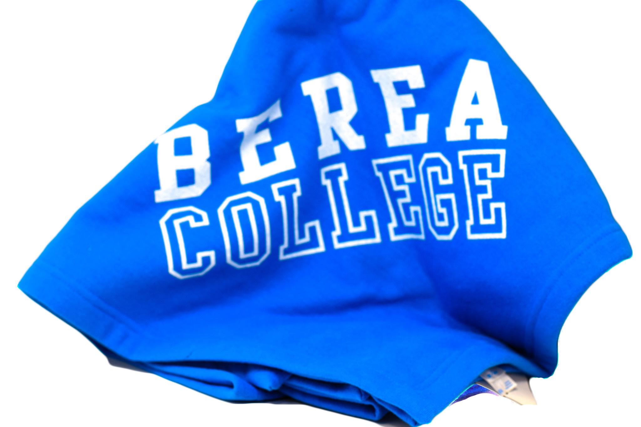 Blue Berea College Fleece Blanket-1