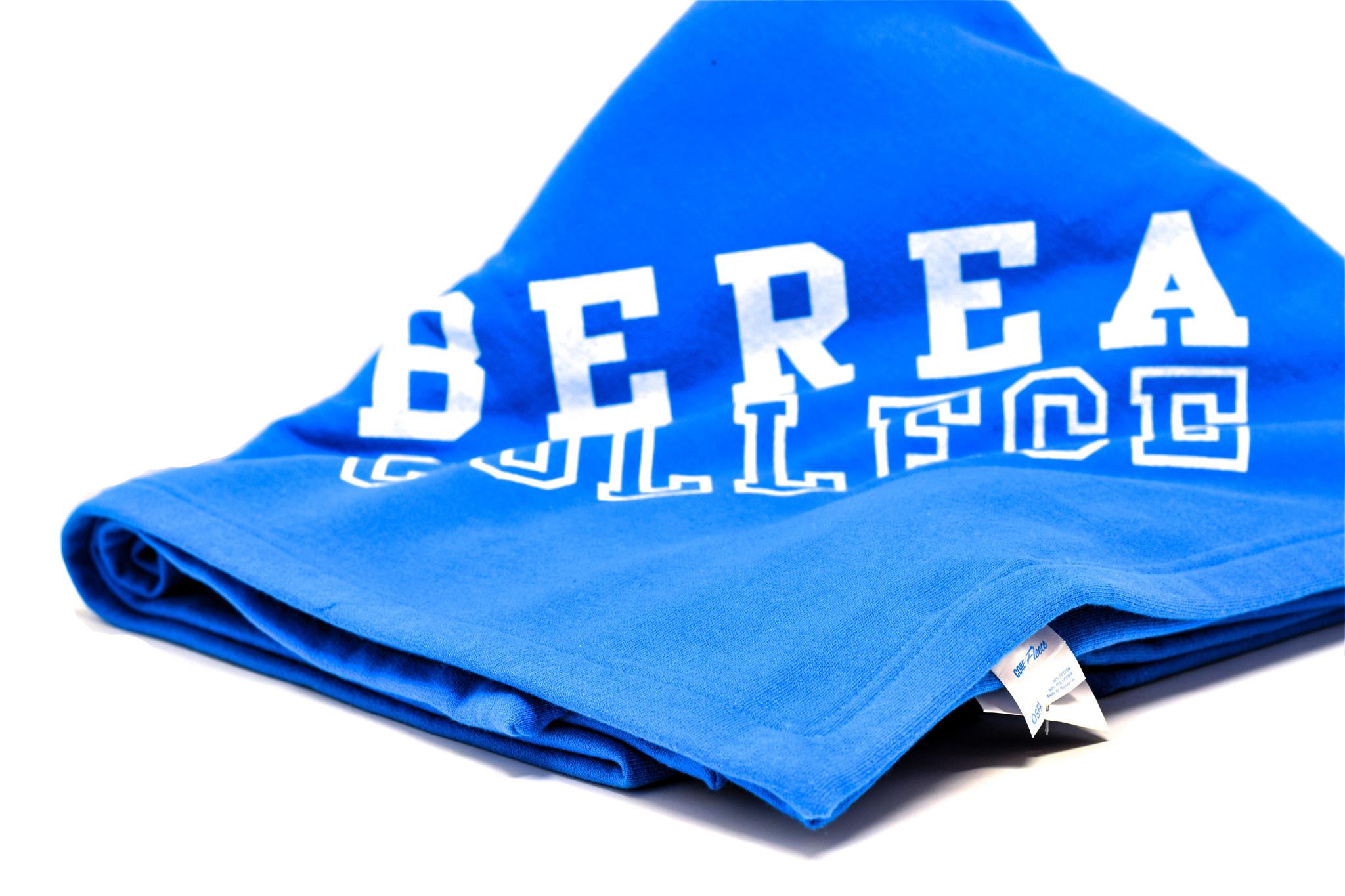 Blue Berea College Fleece Blanket-2