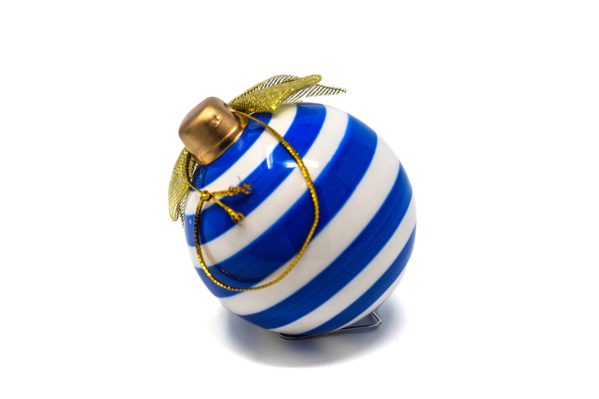 Ceramic Circle Logo Christmas Ornament-2