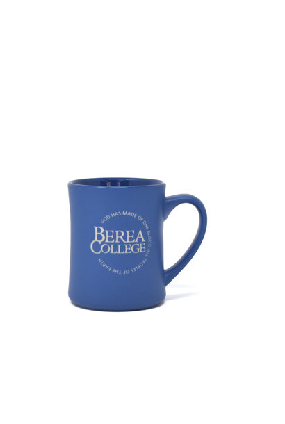 Matte Blue Etched Circle Logo Mug