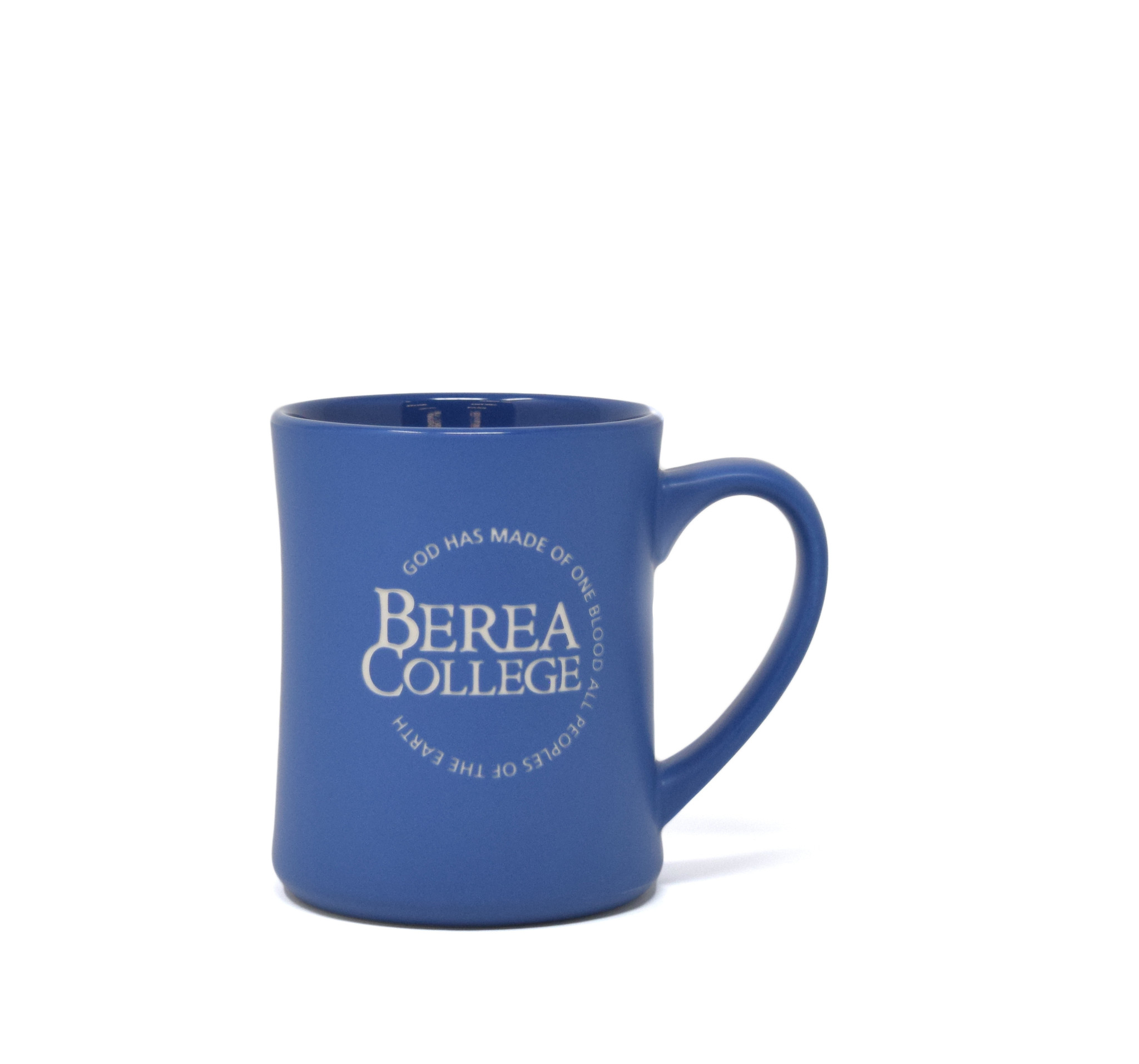 Matte Blue Etched Circle Logo Mug-1