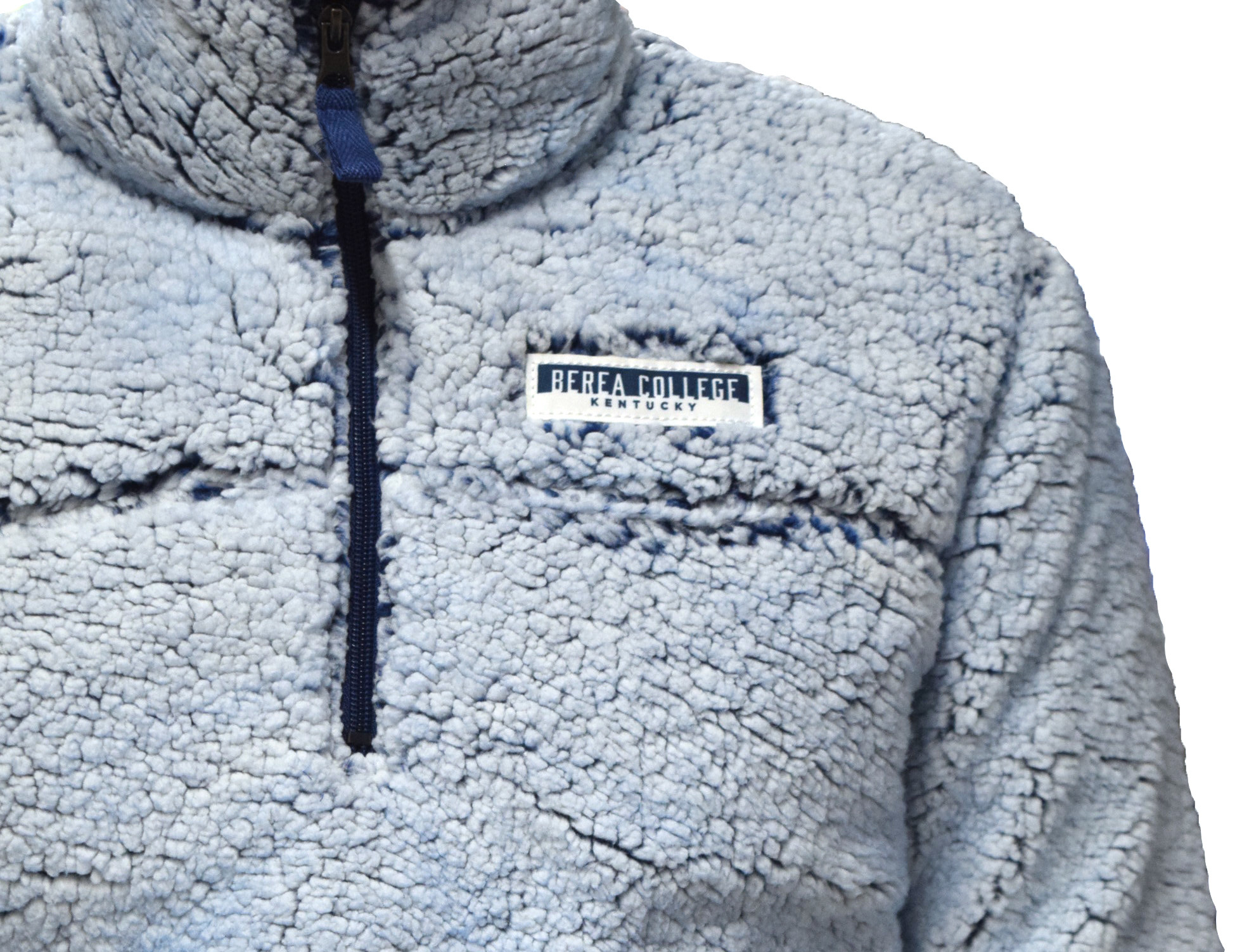 Blue Sherpa Pullover-3