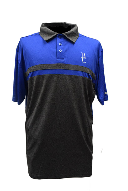 Men's Gray and Black Polo with BC