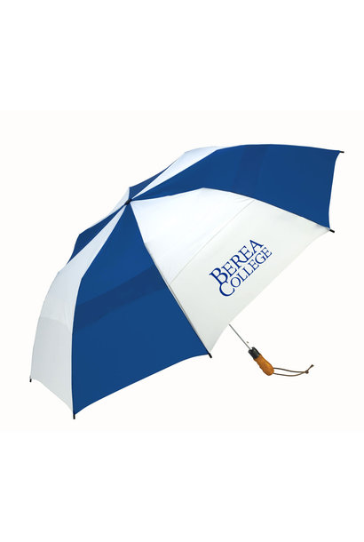 Royal/White  Berea College Windjammer  Umbrella