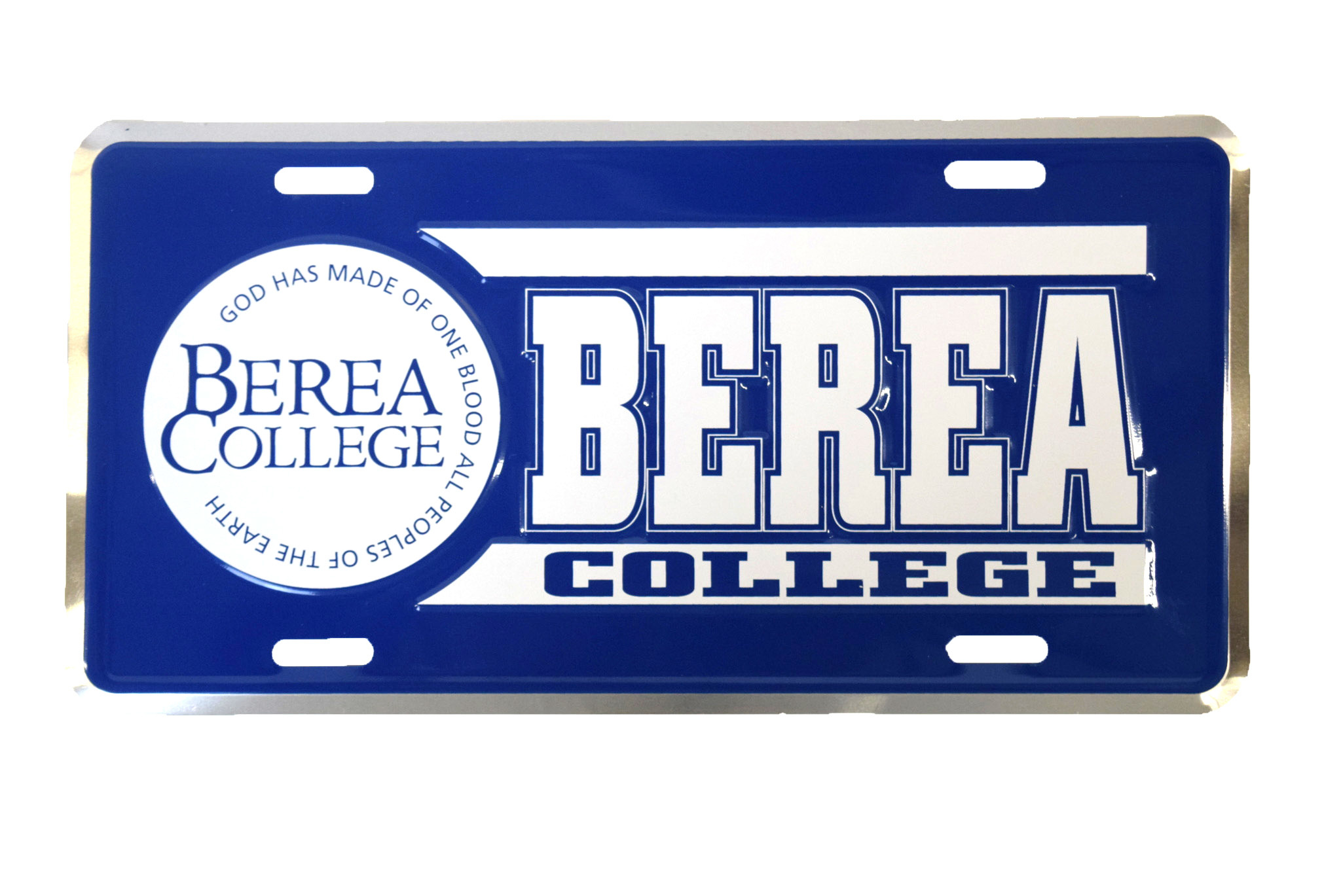Berea College Circle Logo Metal License Plate-1