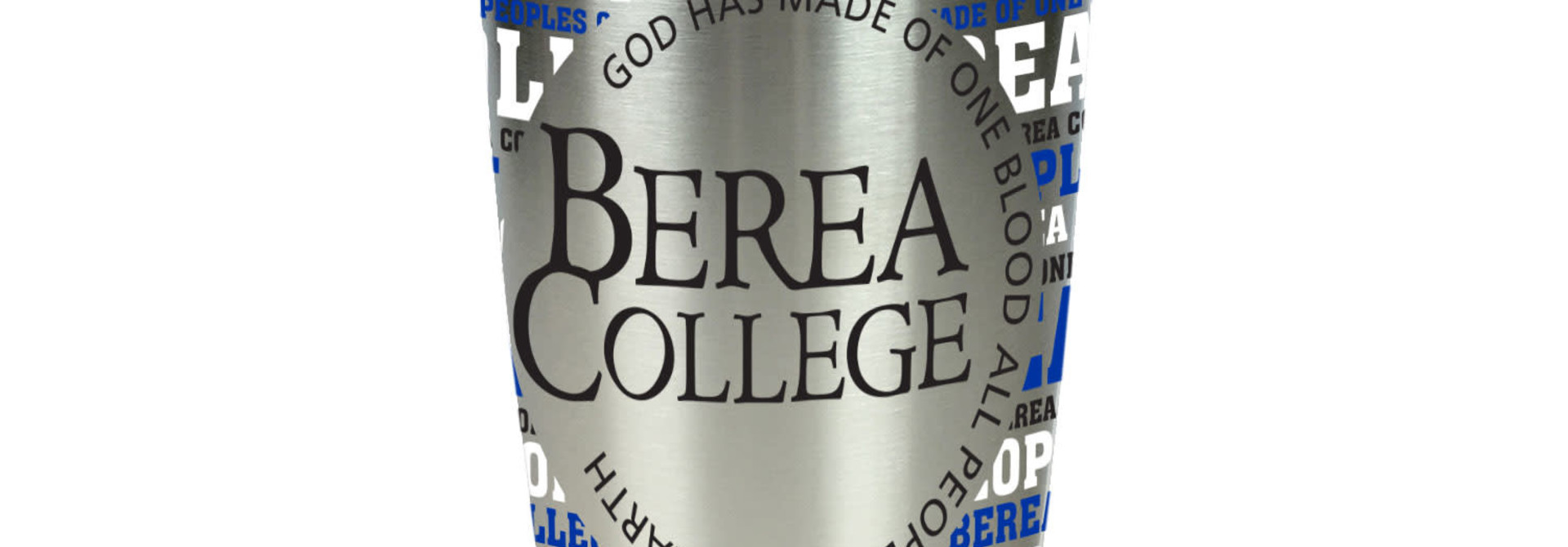 Silver College Motto Text Wrap Tumbler
