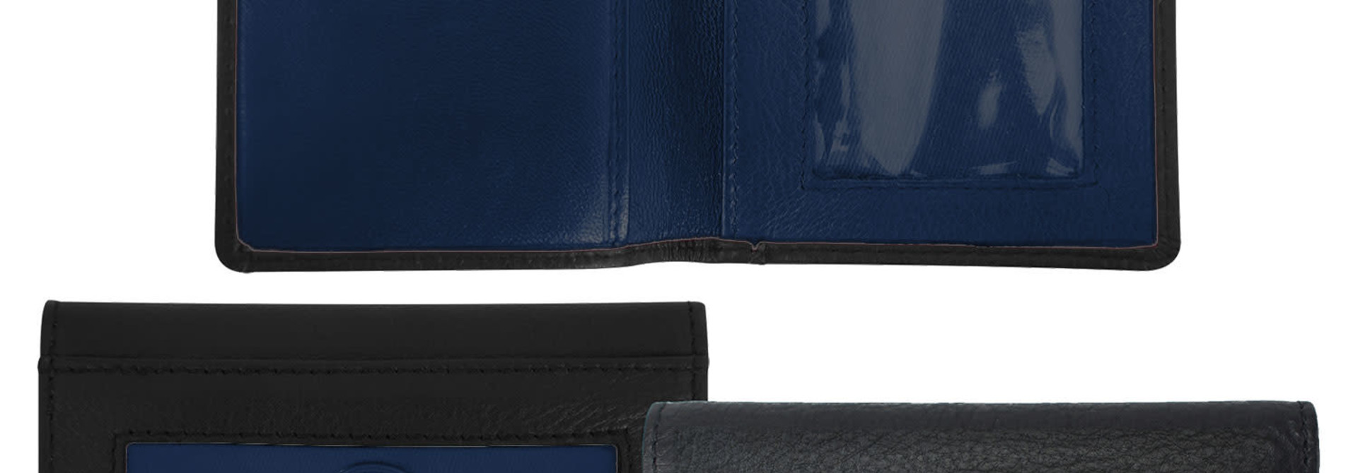 Black/Navy Wallet Berea college ID Holder