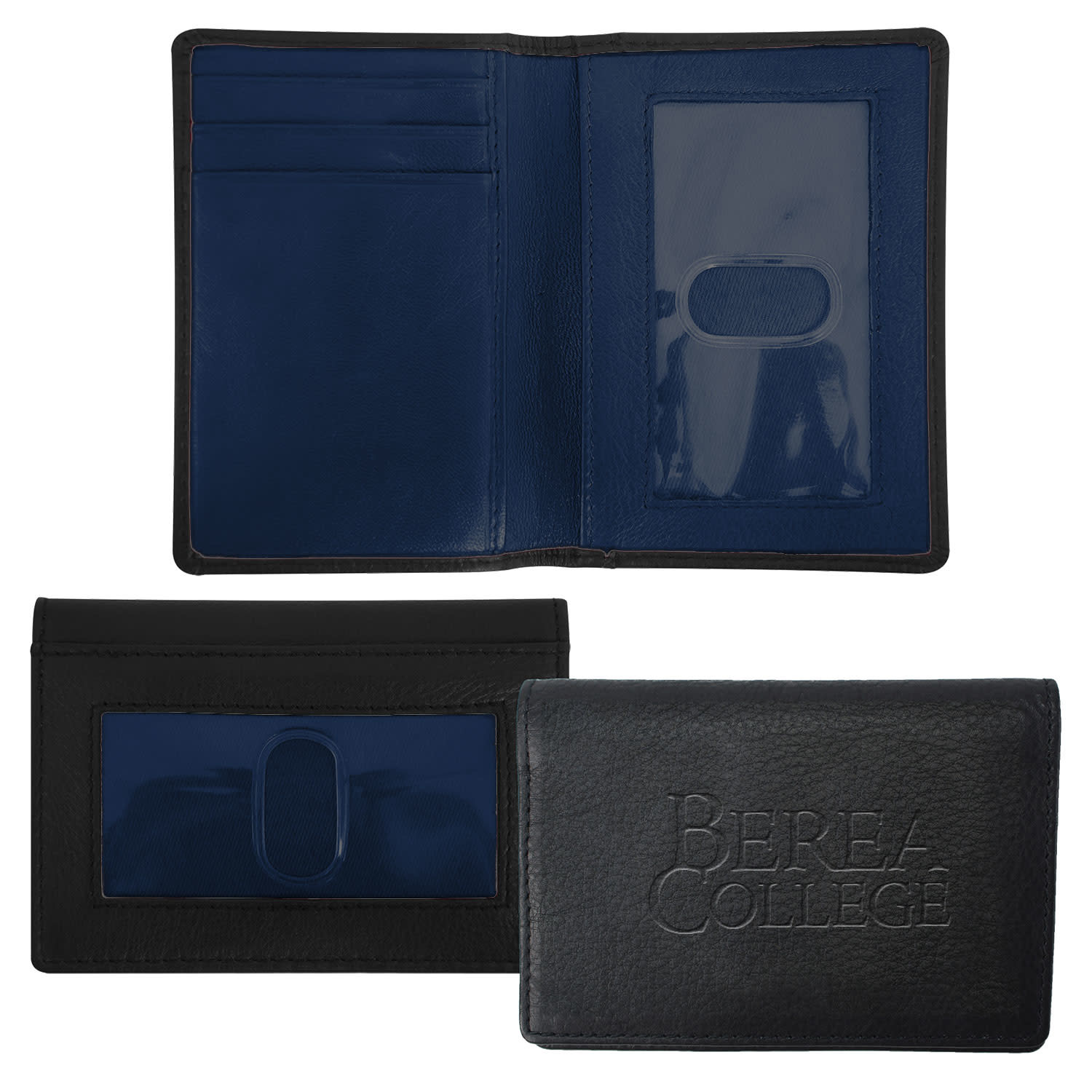 Black/Navy Wallet Berea college ID Holder-1
