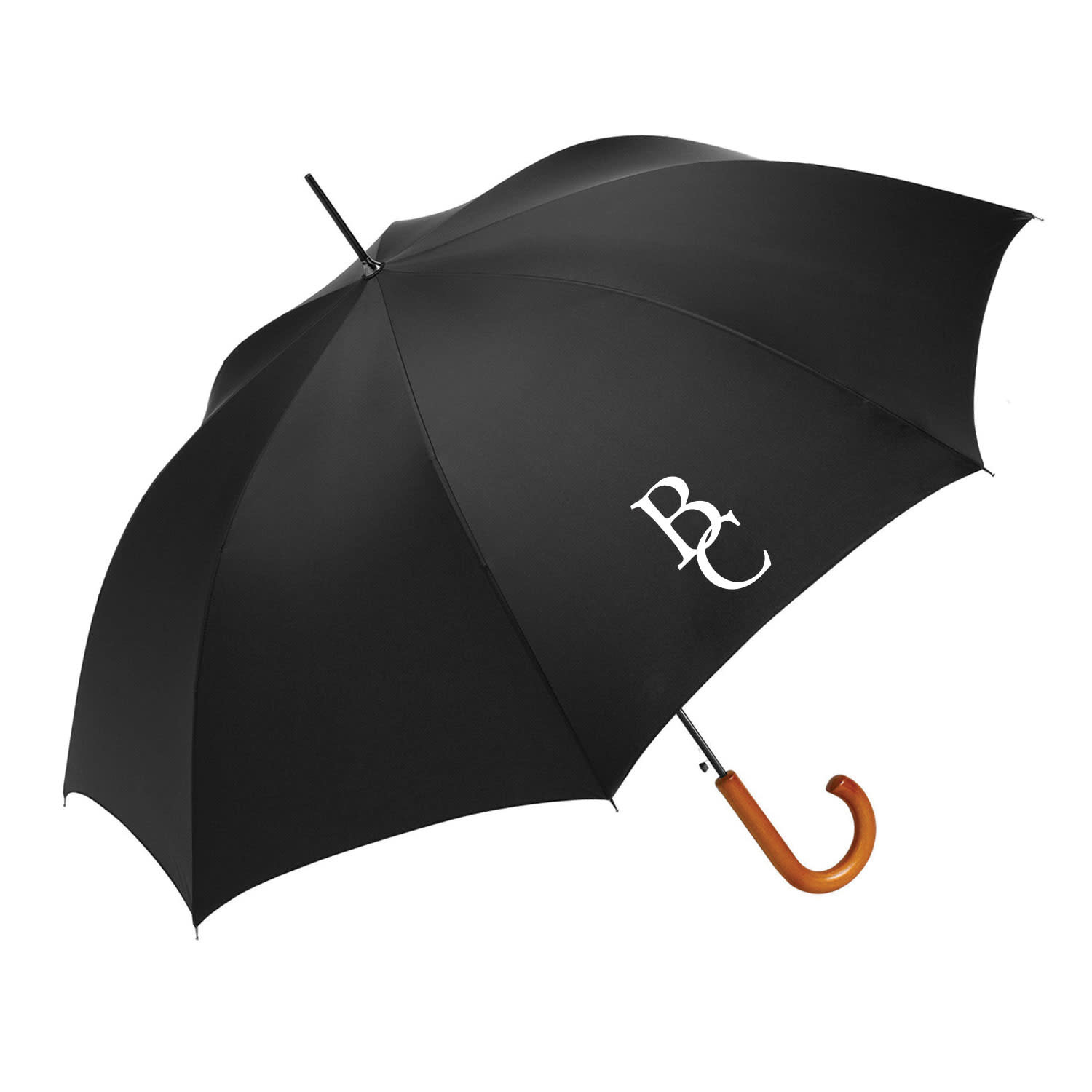 Black  Auto Open Stick BC interlock Umbrella-1