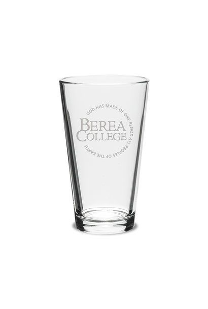 Etched Circle Logo Tall Glass