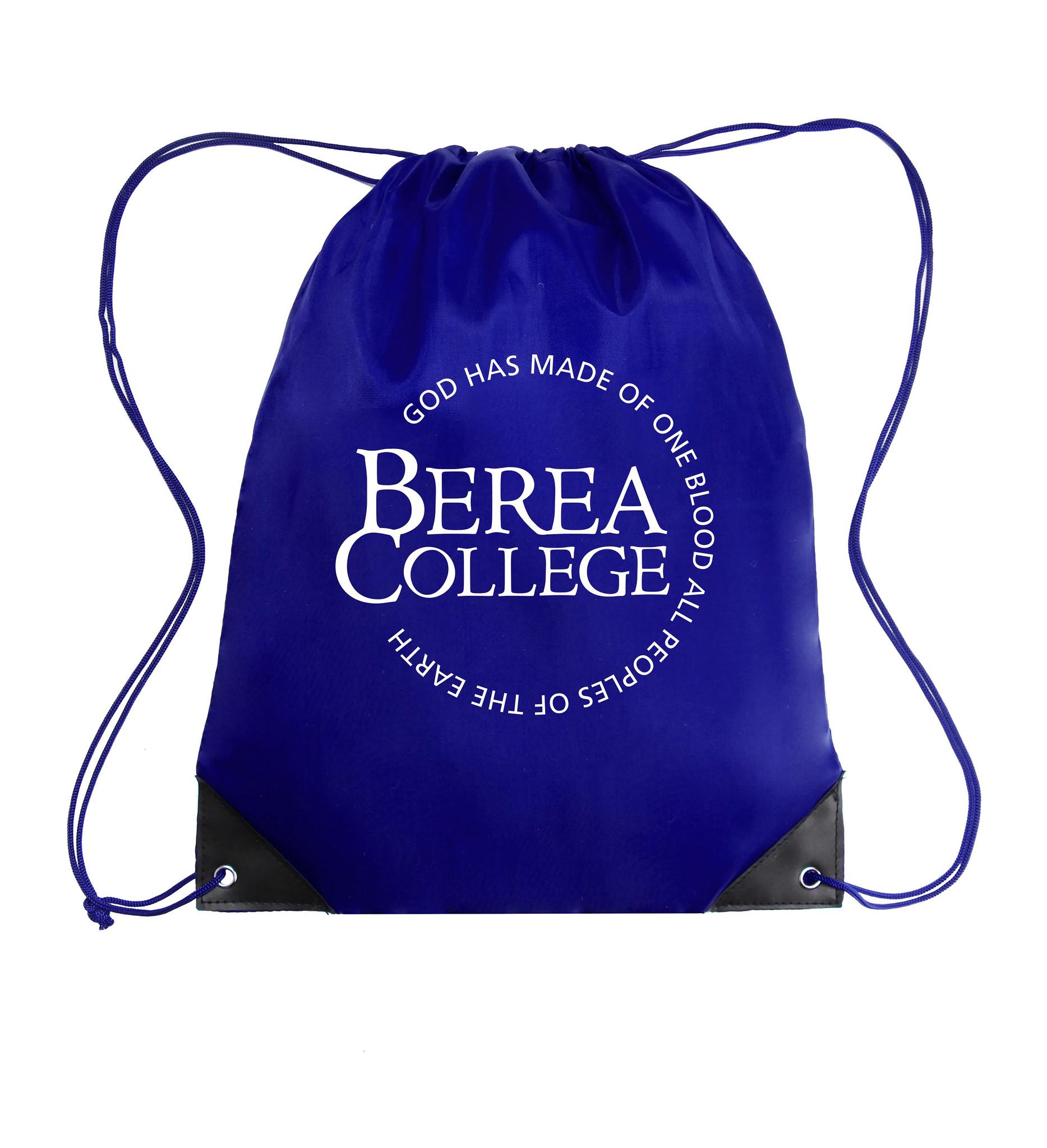 Royal Blue Cinch Bag with Circle Logo-1