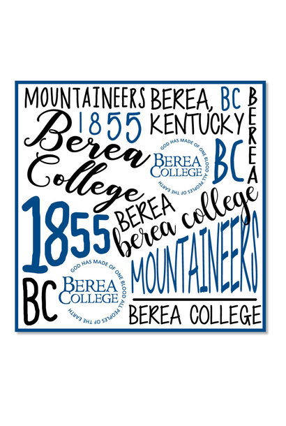 Berea Fashion Text Block Dizzler Sticker