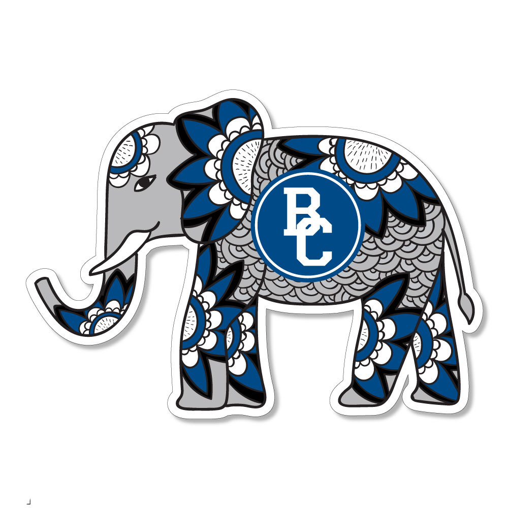 Berea Boho Elephant Dizzler Sticker-1