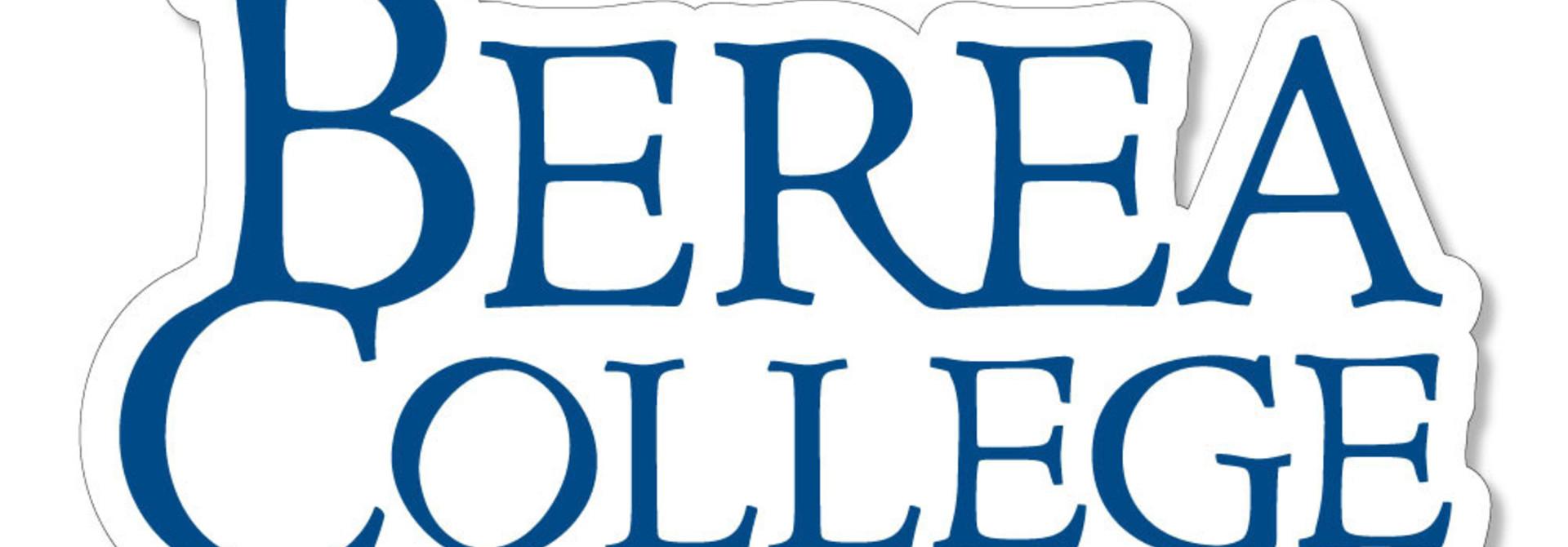 Blue Berea College Stacked Logo Dizzler Sticker