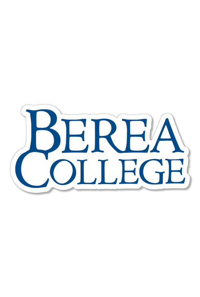 Blue Berea College Stacked Logo Dizzler Sticker