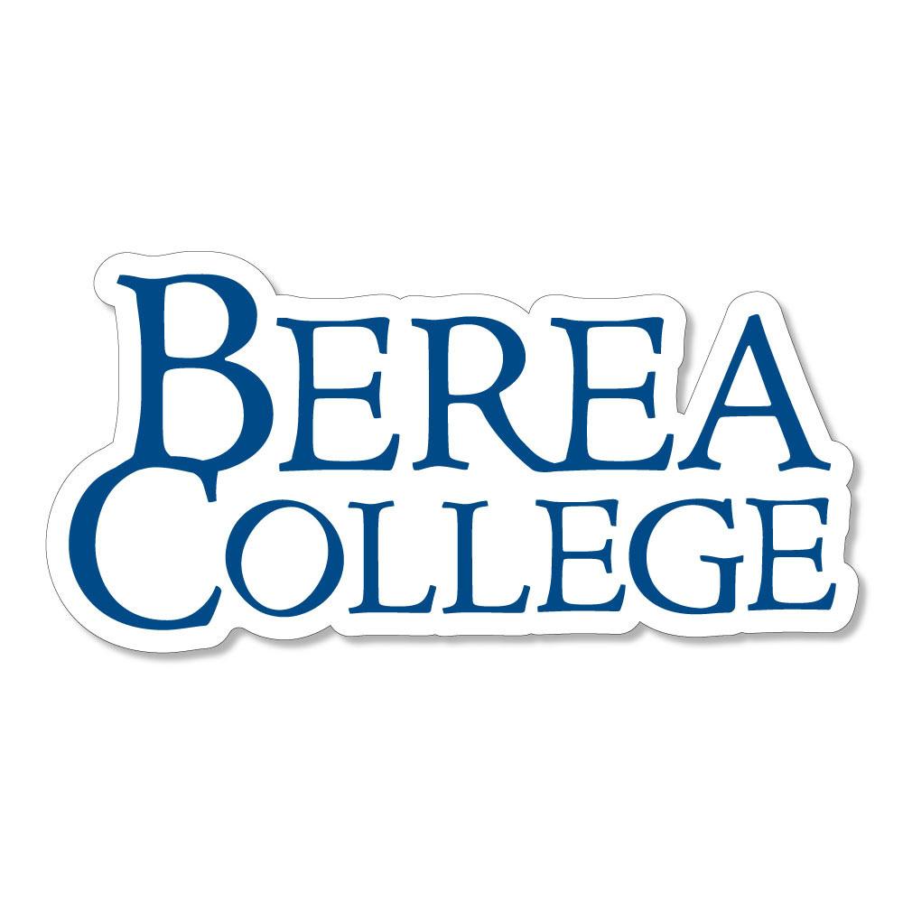 Blue Berea College Stacked Logo Dizzler Sticker-1
