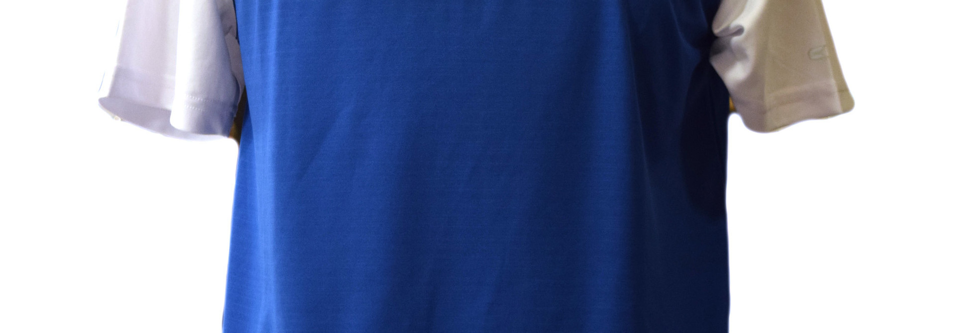 Blue BC Men's Polo with White Sleeves