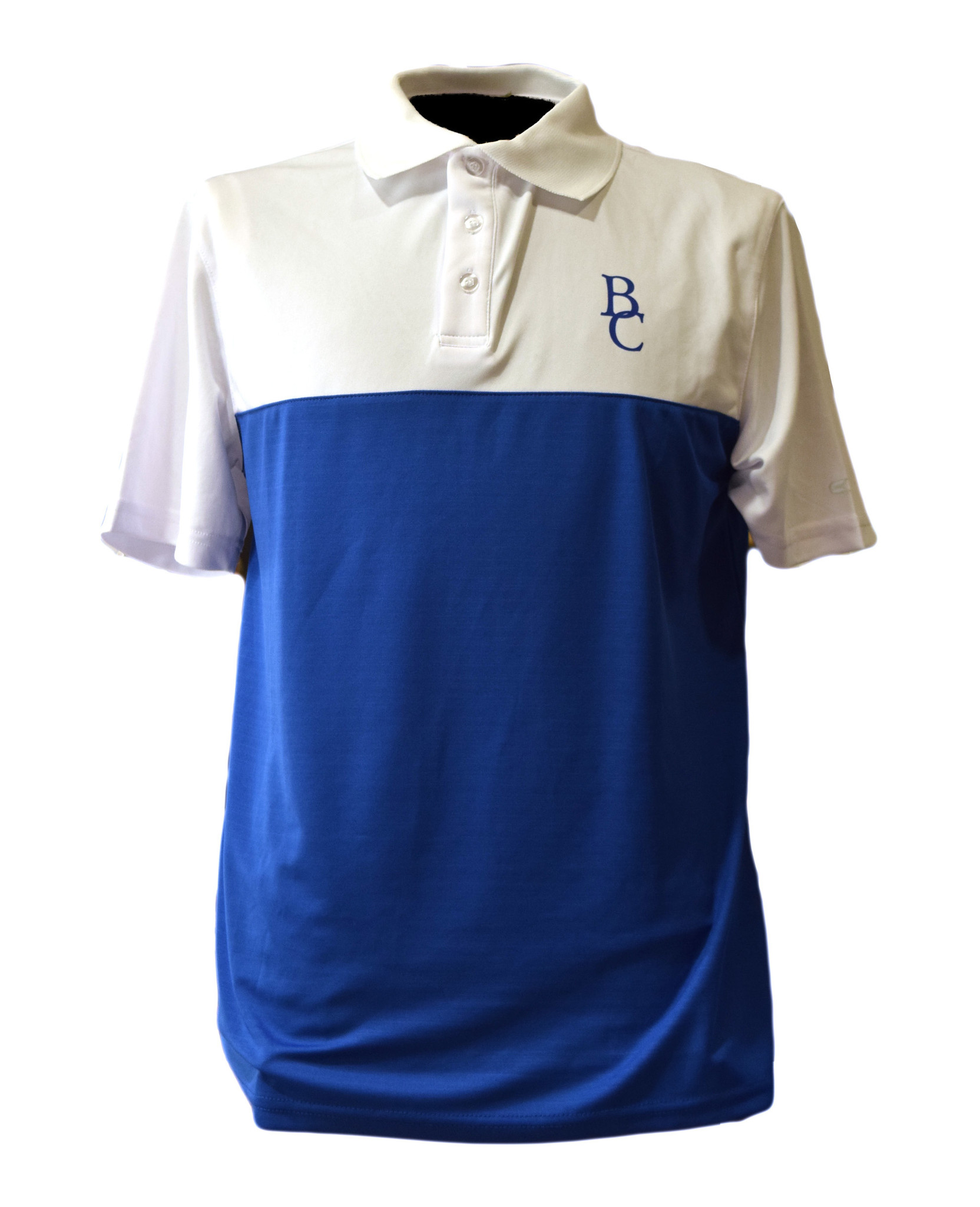 Blue BC Men's Polo with White Sleeves-1