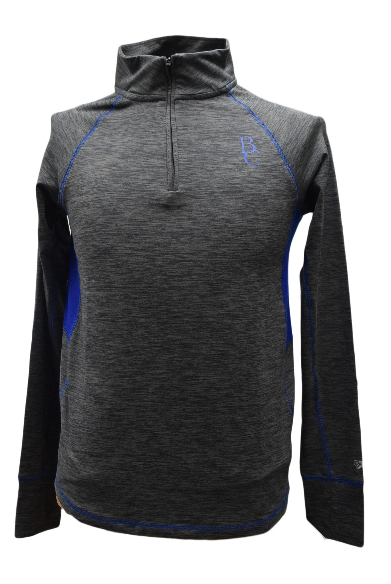 Women's Gray 1/4 Zip Pullover-1