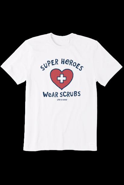Super Hero Scrubs T-Shirt  Life Is Good