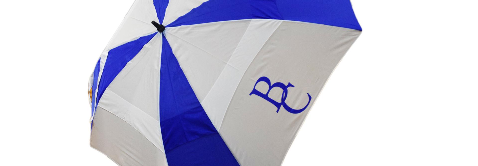Blue and  White Golf BC Umbrella