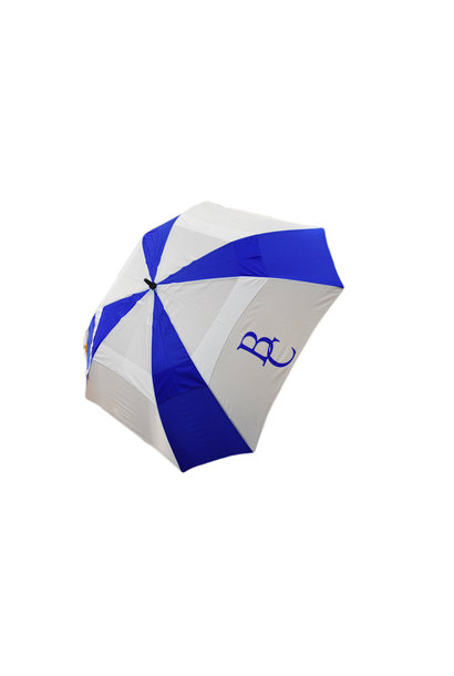 Blue and  White Golf BC Umbrella