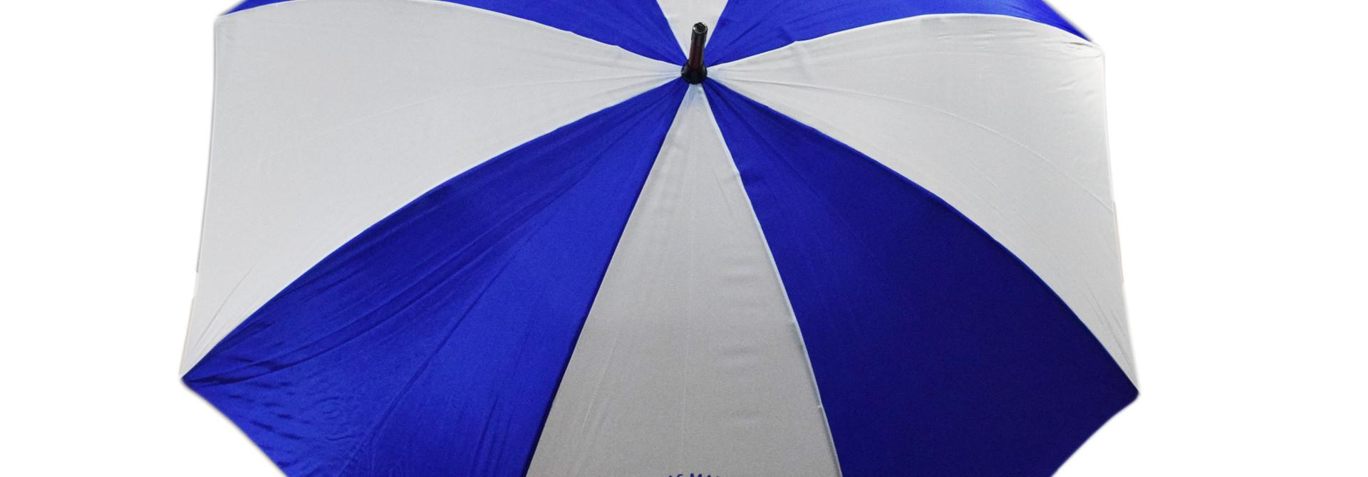 Berea Motto  Blue and White Umbrella