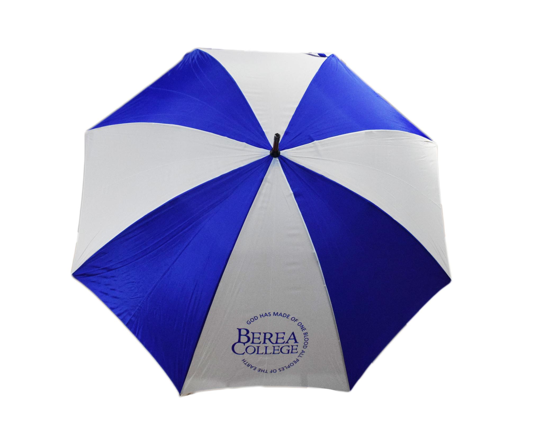 Berea Motto  Blue and White Umbrella-1