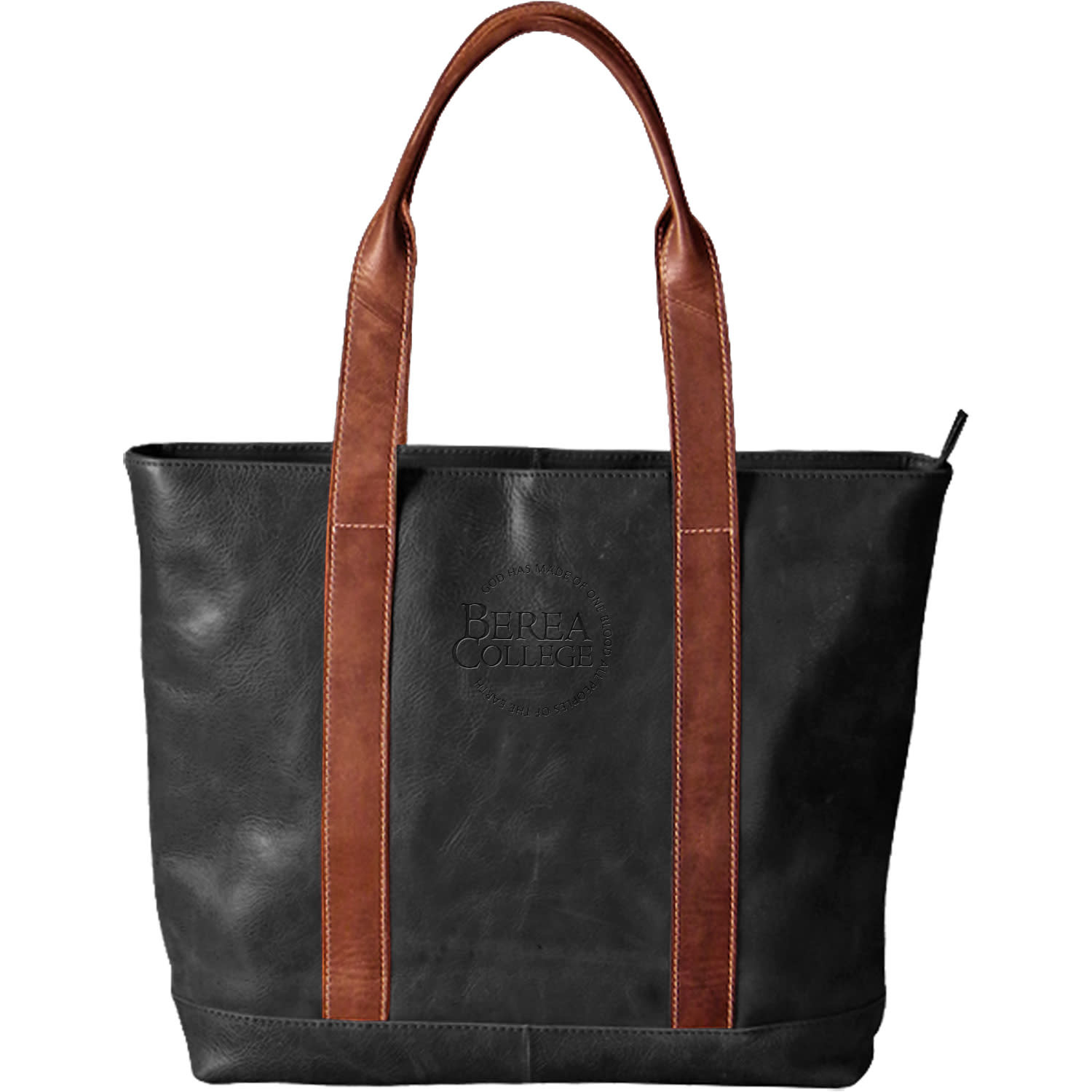 Westbridge Leather Two Tone Tote-1