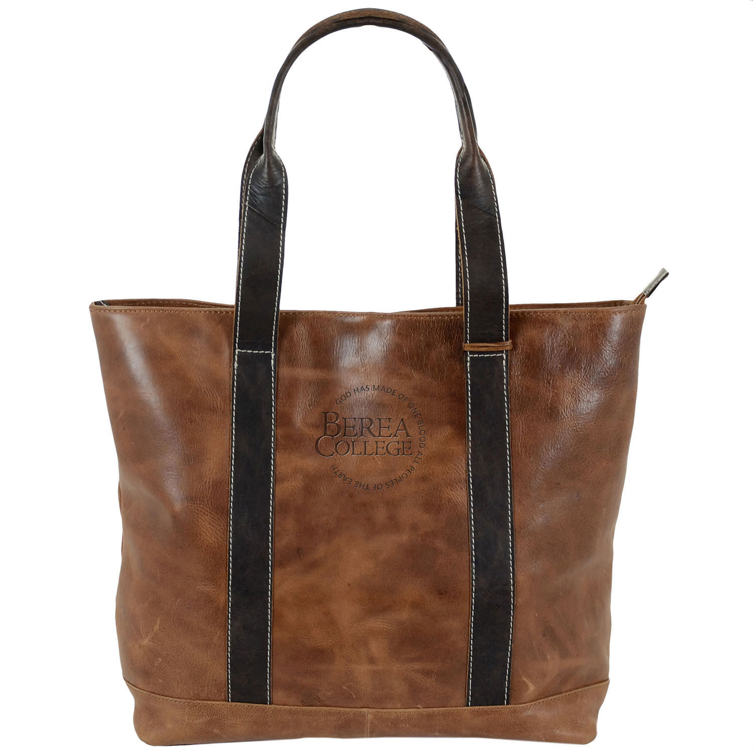 Westbridge Leather Two Tone Tote-2