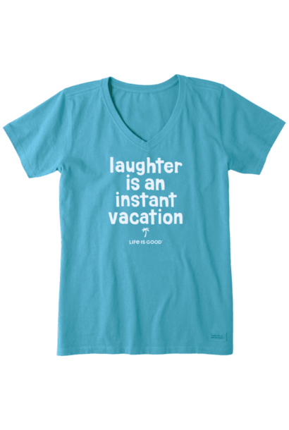 Laughter is an instant vacation T-shirt  Life Is Good
