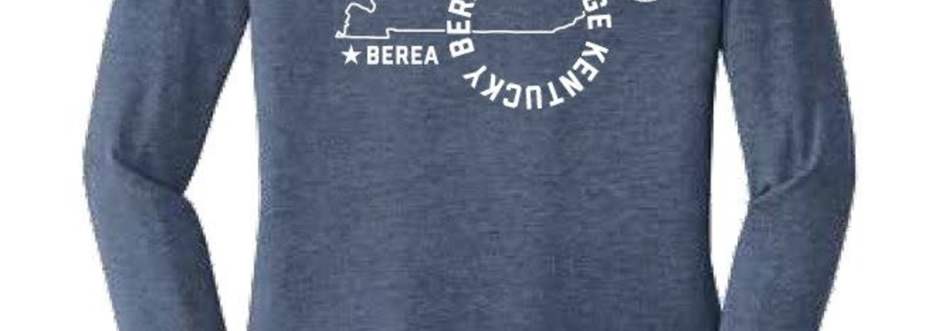 Long Sleeve Berea College Kentucky  Pin Map T-shirt