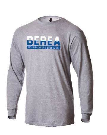 Gray Berea Mountaineers Est 1855 T-shirt-1