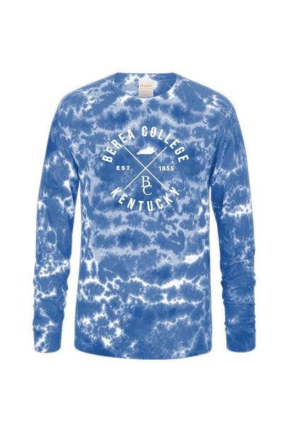 Blue Crinkle Tie Dye T-Shirt