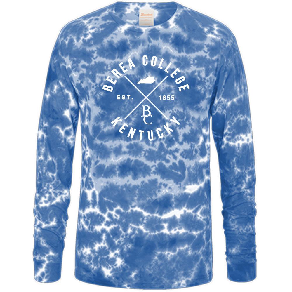 Blue Crinkle Tie Dye T-Shirt-1