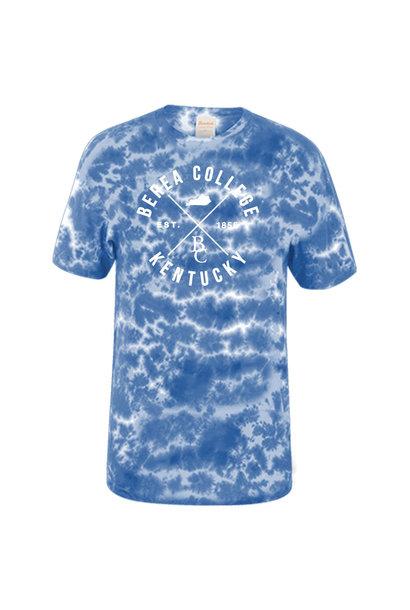 Crinkle Tie Dye Blue T-Shirt
