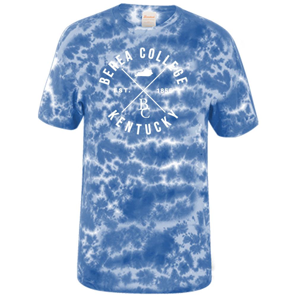 Crinkle Tie Dye Blue T-Shirt-1